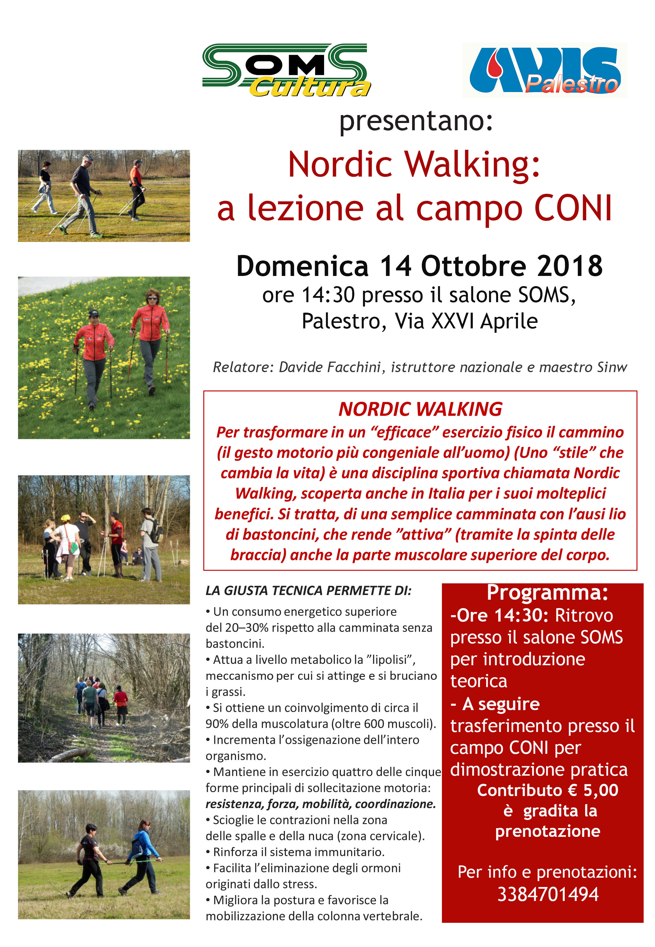 Locandina Nordic Walking